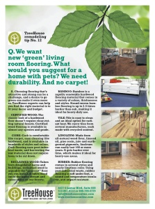Created for Real magazine - a Q&A-style advertorial for TreeHouse about smart flooring.