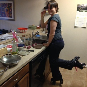 I cook on skates.